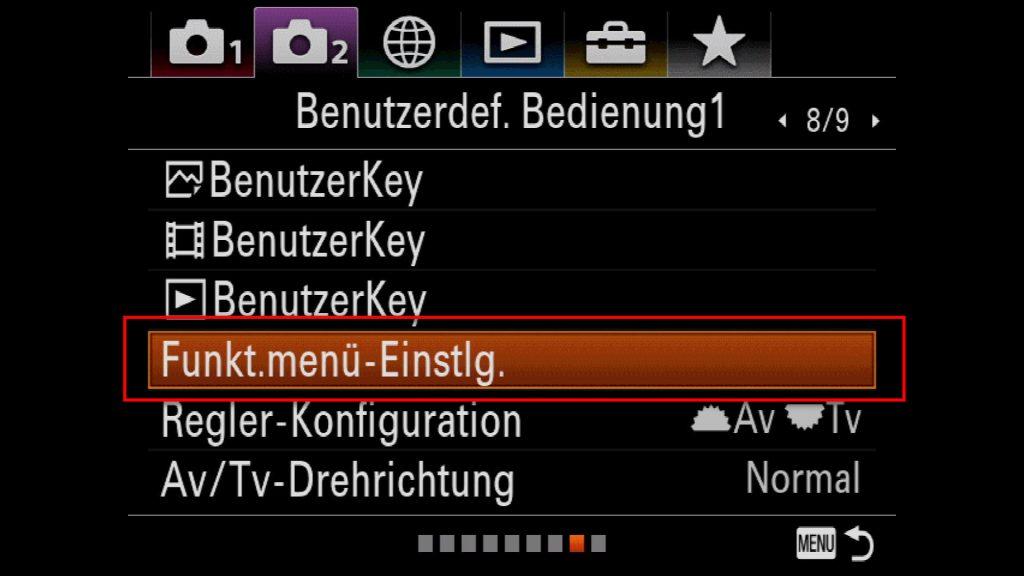 Sony A9 A7III A7RII EyeAF On Off Human Animal Toggel via Fn Menu Customizing