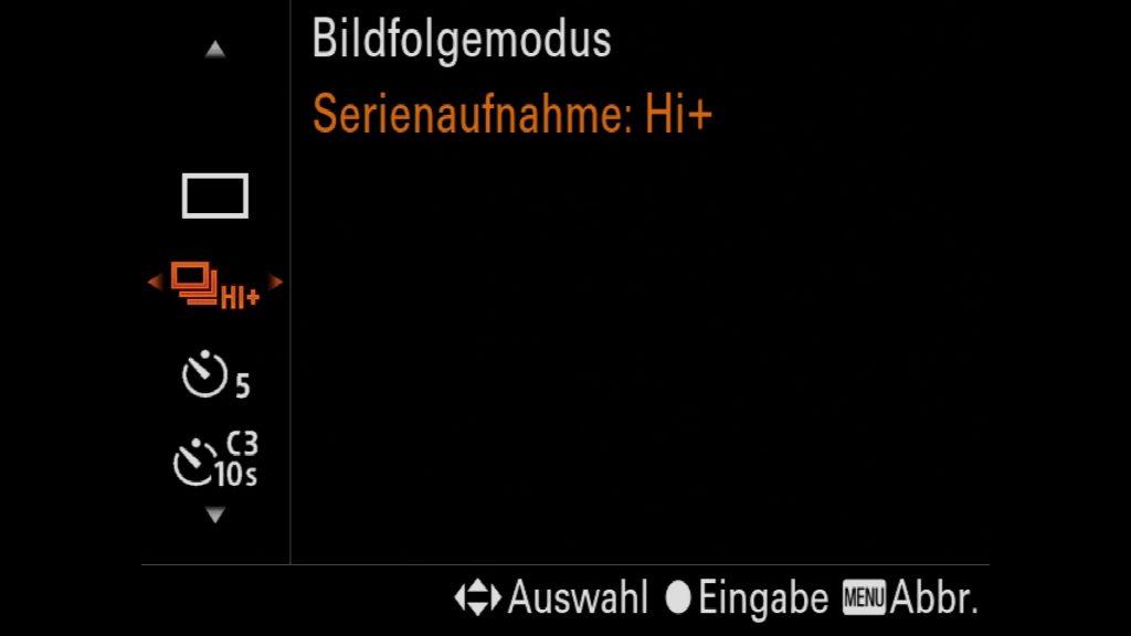 Sony A7III A7RIII A9 Serienbildgeschwindigkeit