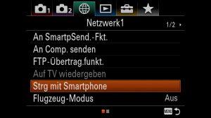 Sony A7RIII Steuerung mit Smartphone